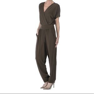 NEW Kim & Co Brown Jumpsuit with Pockets